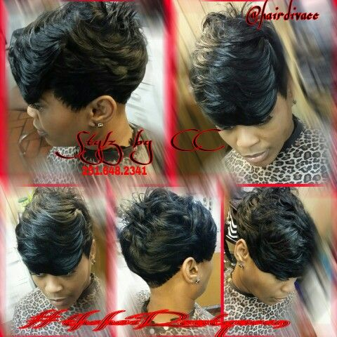 Short Quick Weave Hairstyles Prepossessing Quickweave Short 27Pc  Black Women Short Cutscc Parker