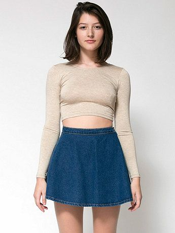 American Apparel - Denim Circle Skirt | Outfits | Pinterest