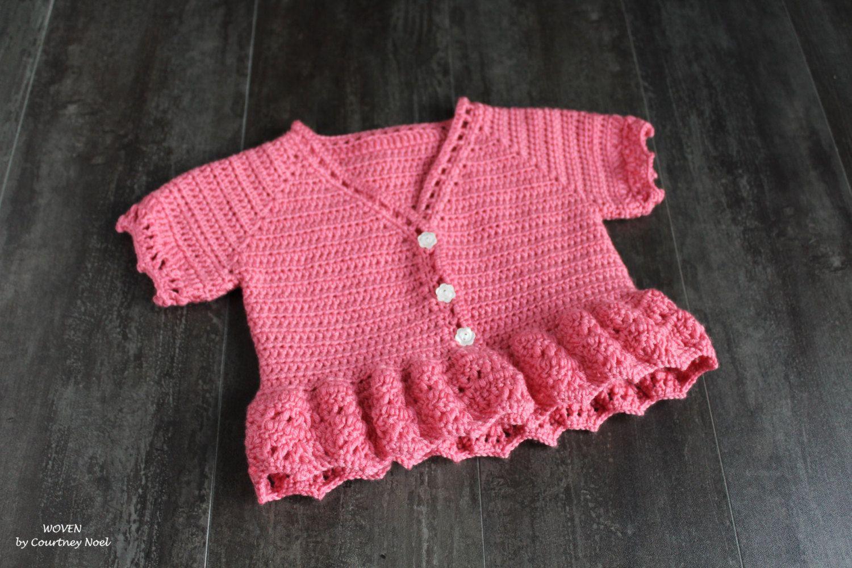 Hand made Crocheted Girl's Cardigan, Baby Girl's Cardigan, Toddler Girl's Cardigan, Girl's Cardigan by WOVENbyCourtneyNoel on Etsy