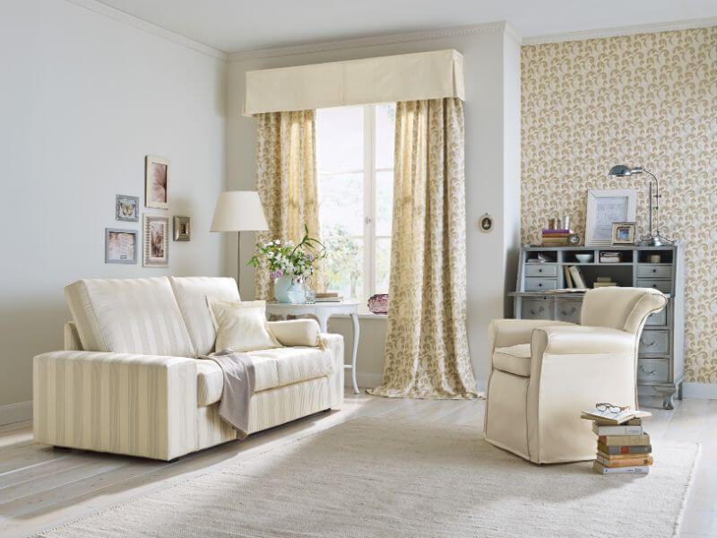 Wohnzimmer Edel ~ Wohnzimmer gardine edel creme ❤ vielfältige plissees