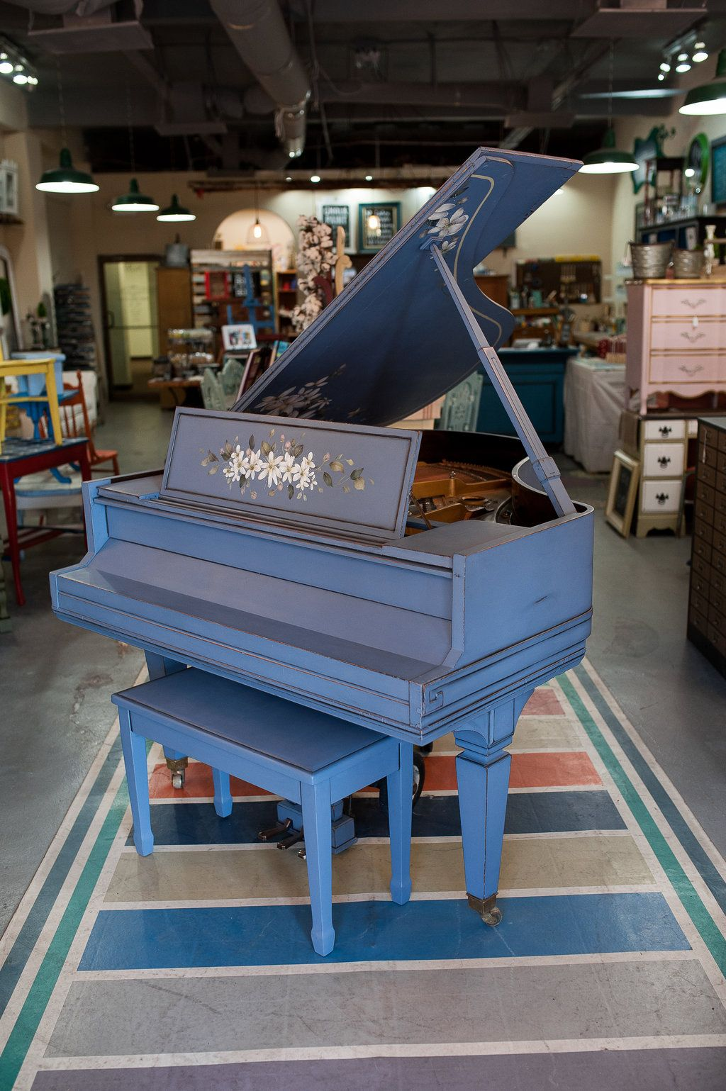 Painted Baby Grand Piano Sohmer Cupid Model Circa 1915 1920 Painted With Chalk Paint By Annie Sloan In Old Violet S Painted Pianos Baby Grand Pianos Piano