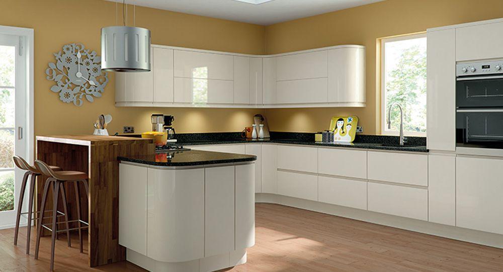 Cream Gloss Kitchen Units