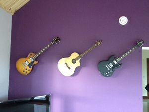 Woodies Acoustic Invisible Guitar Hangers Guitar Hanger Brass