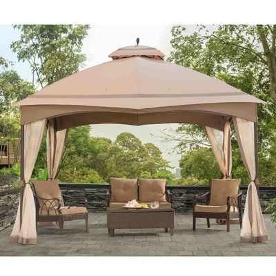 Sunjoy Replacement Mosquito Netting For Bellagio Gazebo Gazebo