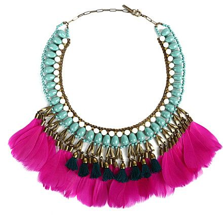 Go all-out this season with this stunning necklace from Isabel Marant. Clearly influenced by tribal styles, this necklace is a great way to up the ante on a sleek evening dress.