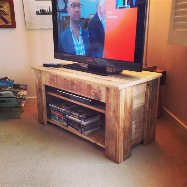 Pallet Wood Console Table TV Stand Pallet Furniture