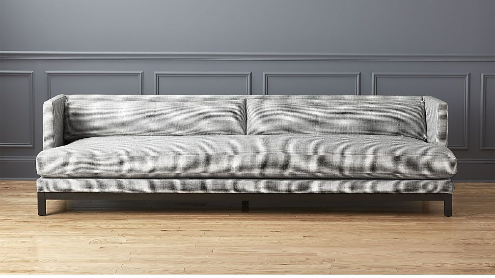 Brava Houndstooth Sofa Cb2 Modern Sofa Living Room Sofa Long