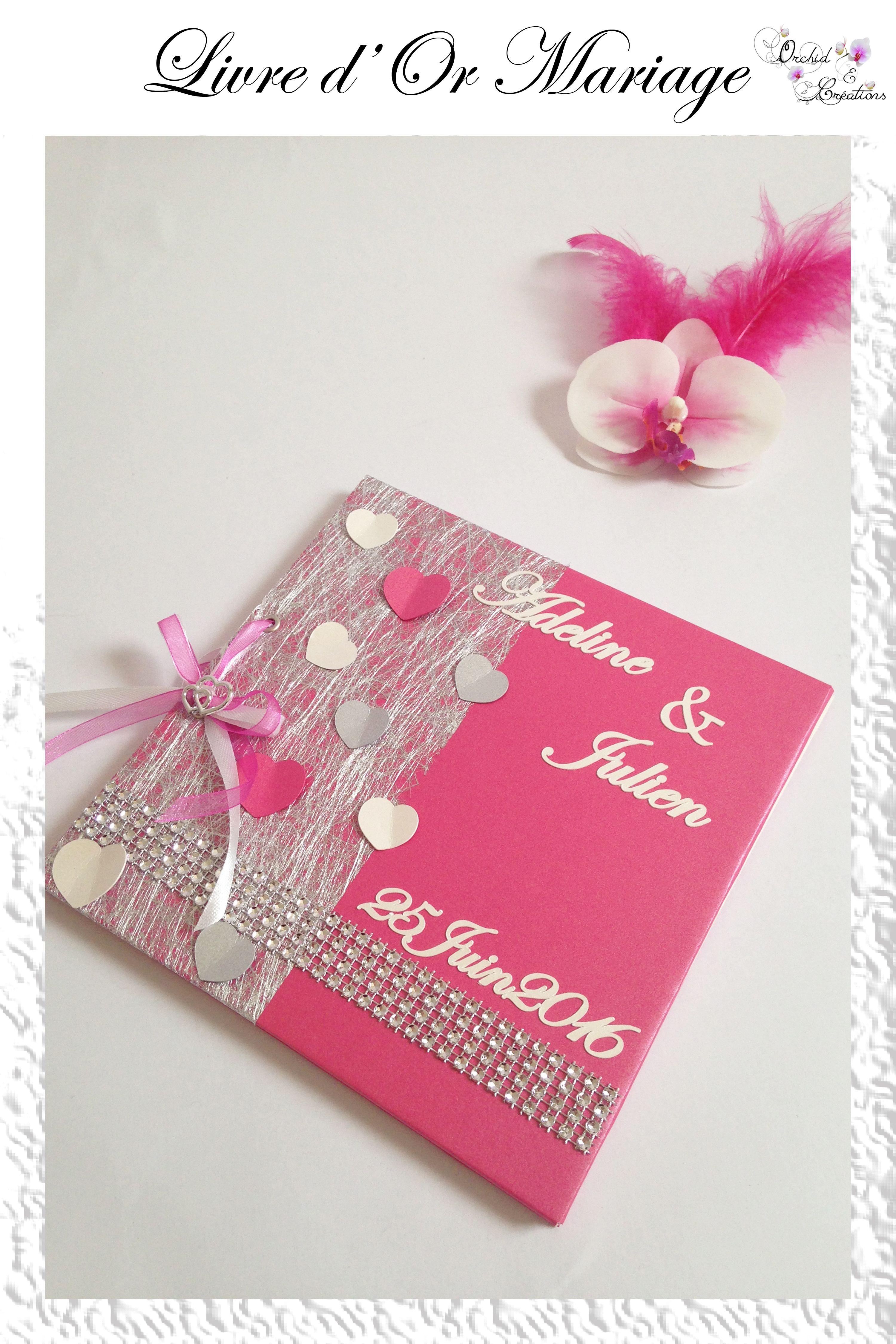 Livre D Or Mariage Fait Main Th Me Coeur Et Strass Couleurs