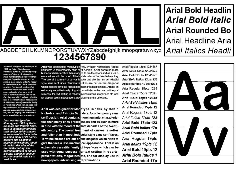 typography specimen | Type Specimen Sheet | #Type_Specimens