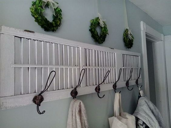 10 Functional Ideas for Repurposed Shutters - Decor Steals Blog
