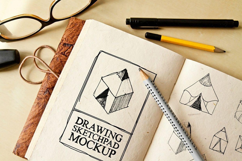 Free Drawing Sketch Pad Mockup Sketch Pad Mockup Free Psd Design Mockup Free