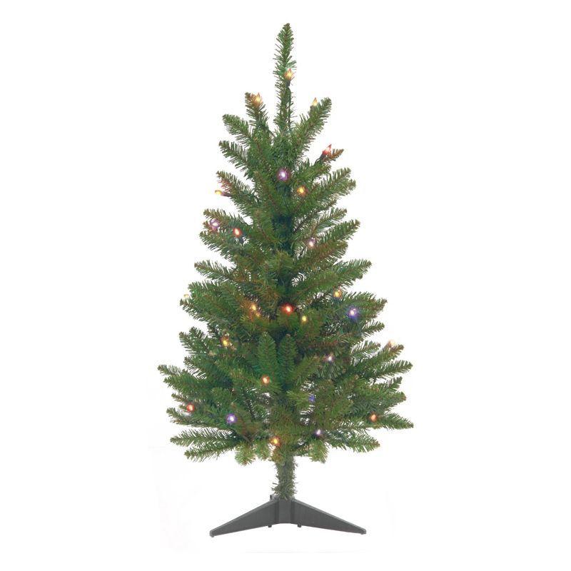 75cm 2 Foot 6 Inch Multicolour Pre Lit Christmas Tree Buy Online At Qd Stores Pre Lit Christmas Tree Xmas Tree Decorations Christmas Tree