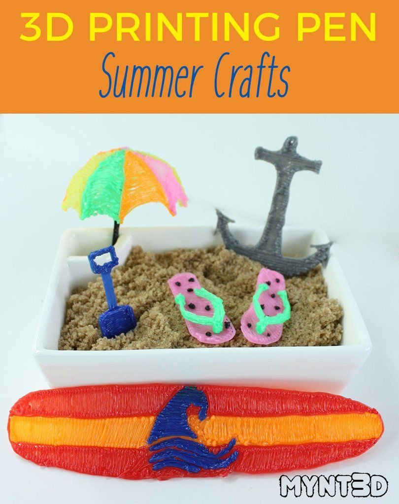 Beach Themed Projects Made With A 3d Printing Pen 3d Printing