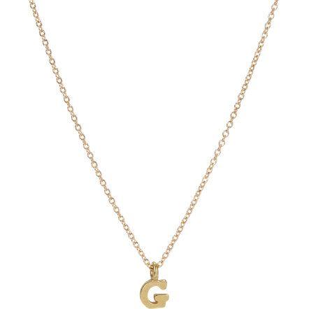 Detailssonya Rennes Petite Gold Vermeil Block Letter G Pendant