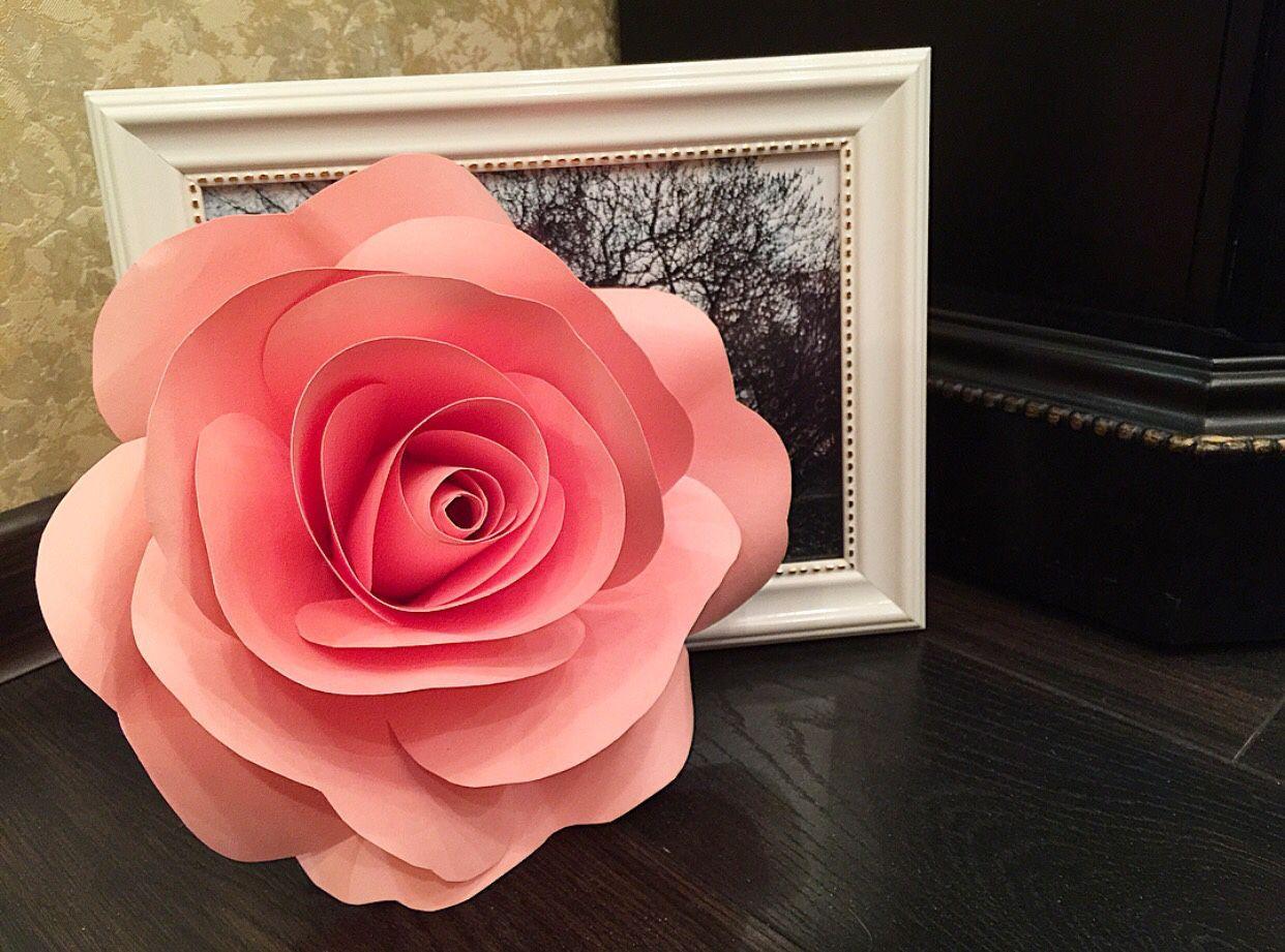 Роза из бумаги своими руками на открытку, для