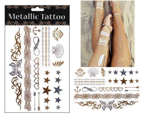 tatouage-ephemere-metallique-or-argent-bas-du-dos-epaule-bras-et