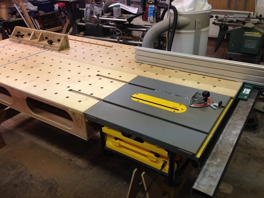 Onboard paulk workbench with biesmeyer by navaar for Table saw workbench woodworking plans
