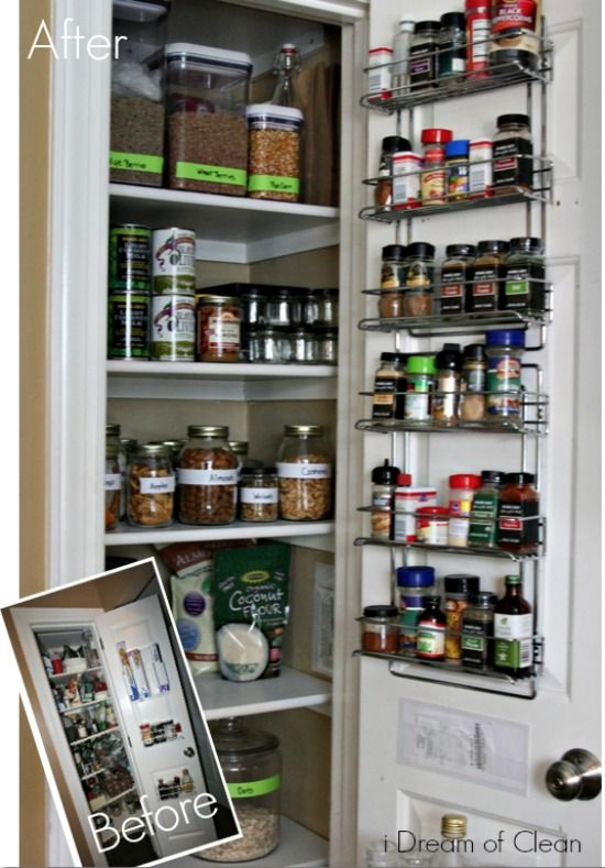How to organize your kitchen pantry Organization Pinterest