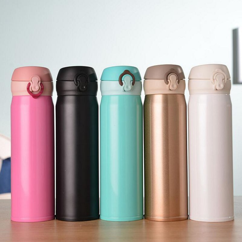 Bullet Shape Thermo Cup Bottle Cute Vacuum Flask Mug Stainless Steel Three Color
