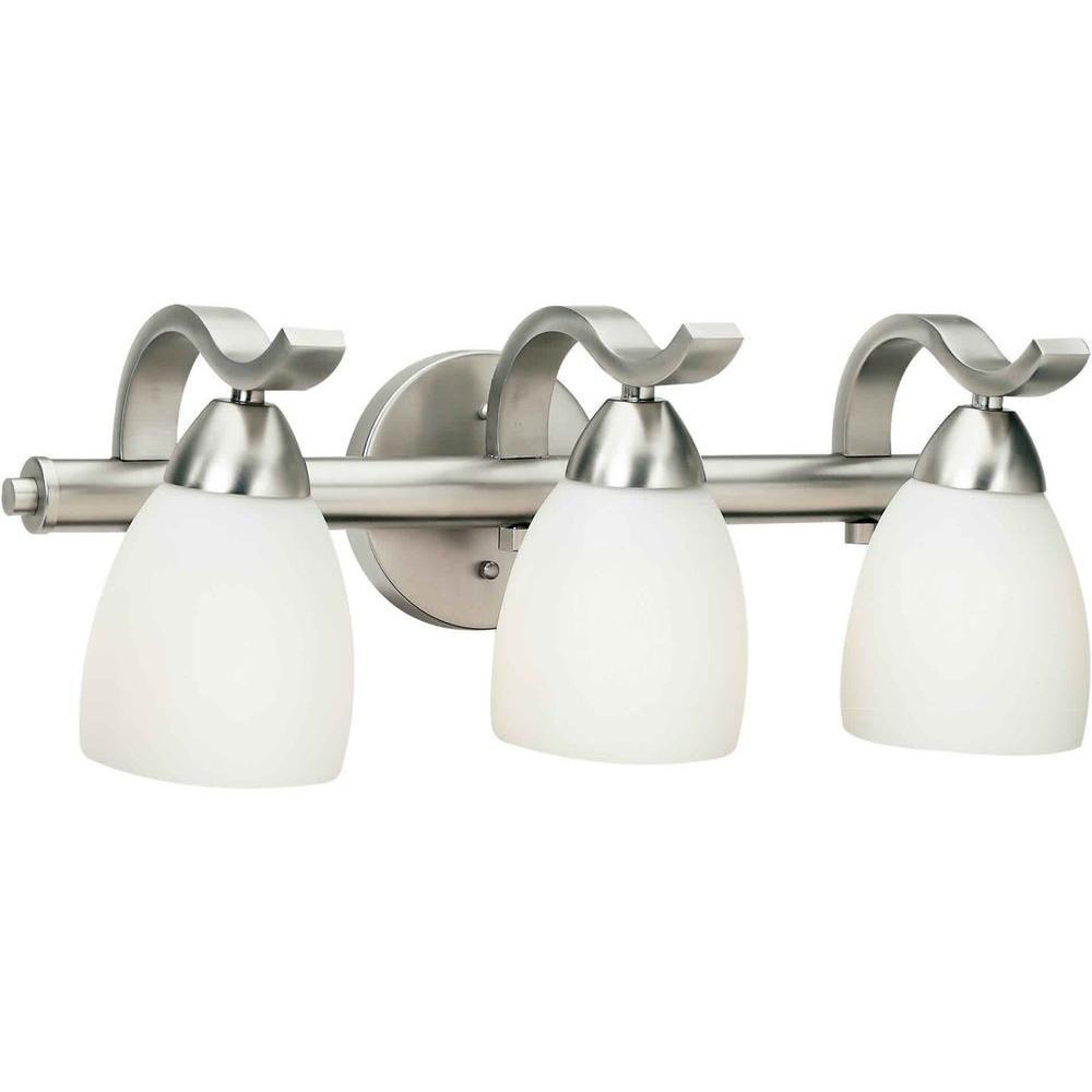 Talista Lucy Burton 3 Light Brushed Nickel Bath Vanity Light Vanity Lighting Bathroom Fixtures Bathroom Vanity Lighting