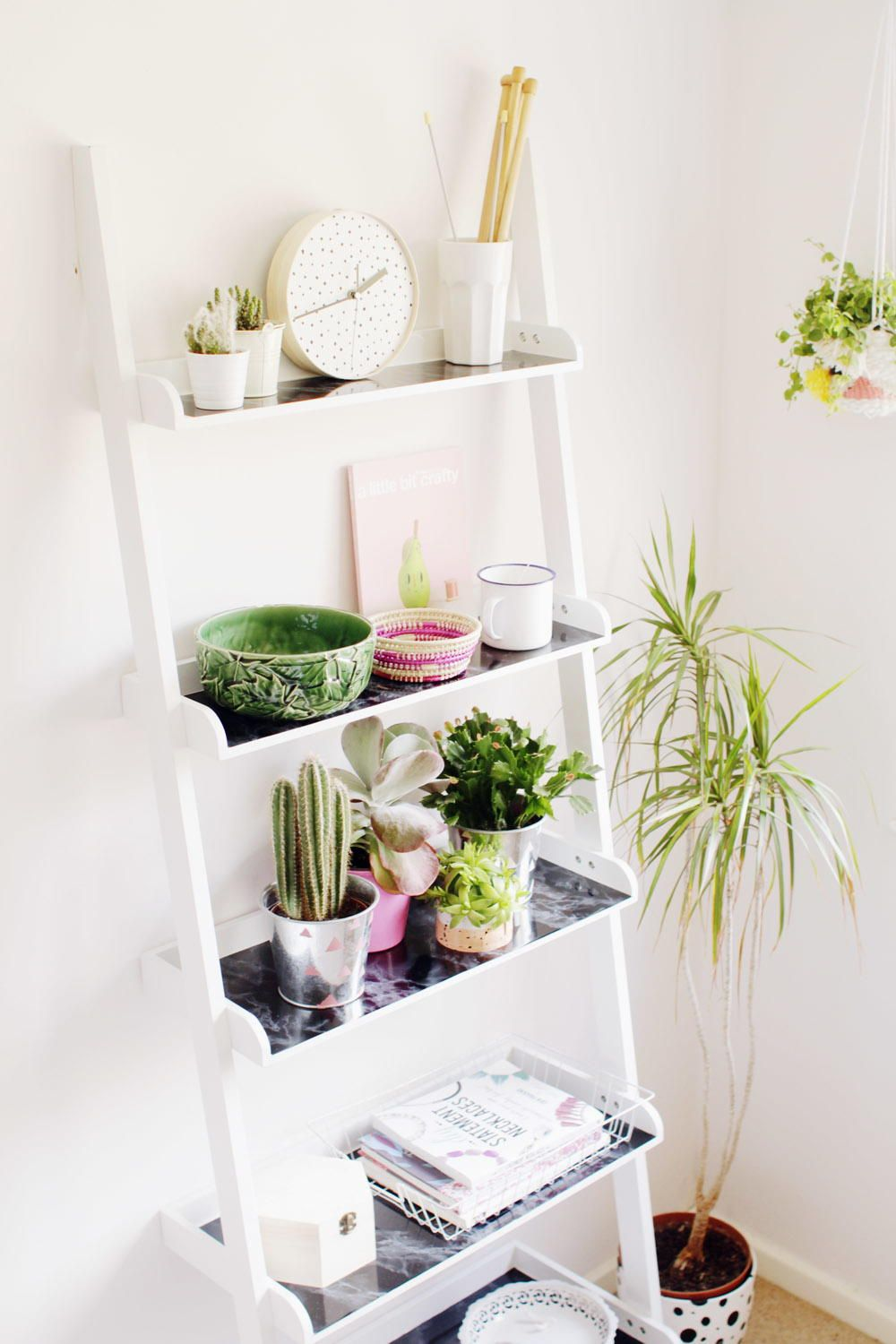 Diy ladder shelf hack diy building pinterest shelves