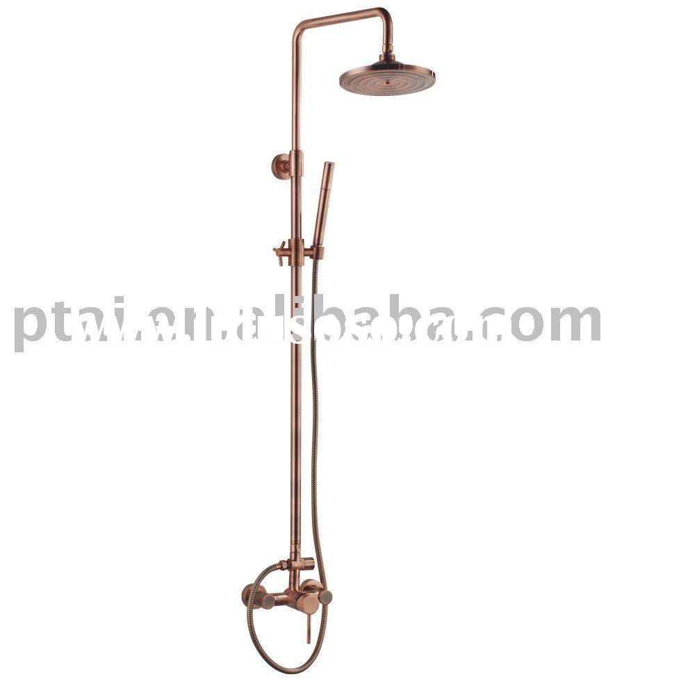 Fantastic Copper Shower Faucet Adornment - Faucet Products ...