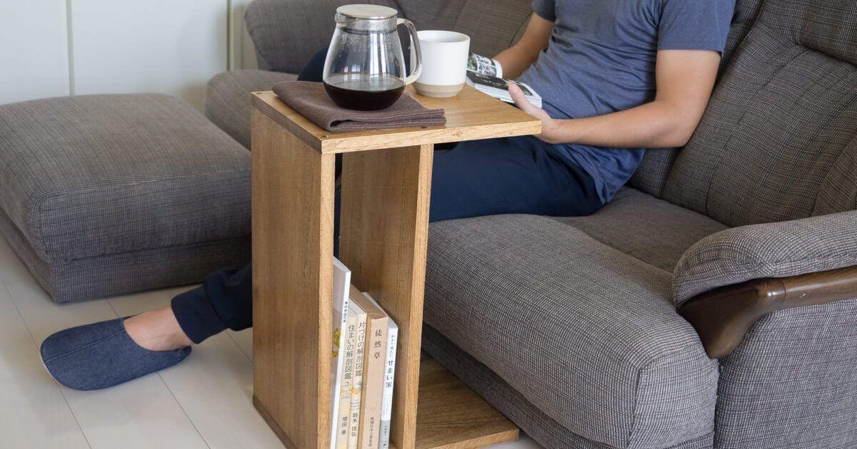 Diy 初挑戦 ソファの横に グラスやちょっとしたおつまみを置けるサイドテーブルが欲しい と思い立ち 自作してみました もともとはソファ前にロー テーブルを サイドテーブル ソファテーブル Diy ローテーブル Diy