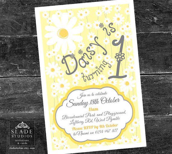 Daisy birthday party invitations Daisy chain birthday party - best of birthday invitation card write up