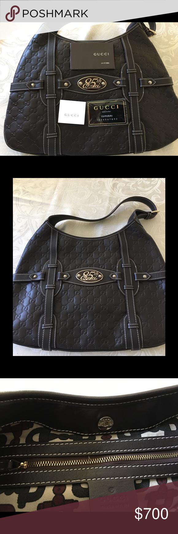 4b0fdee79969 Gucci 85th Anniversary Hobo Brown Guccisima leathe Gucci Limited Edition  Medium 85th Anniversary Hobo! Made