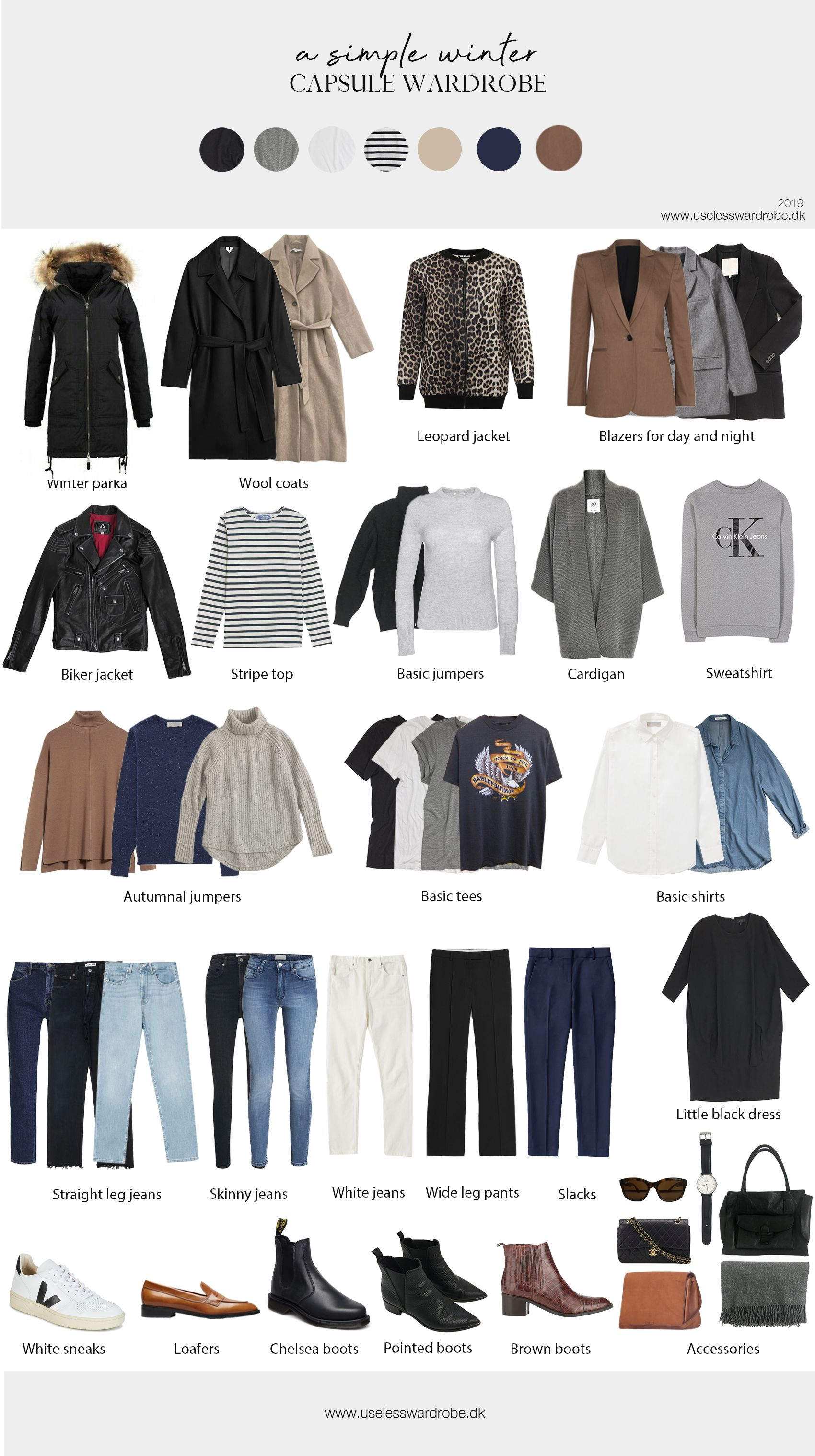 36 piece winter capsule wardrobe