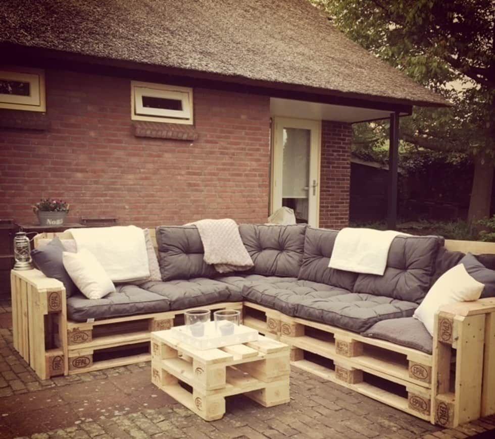 Modern von meubelen van pallets, modern  homify  Meuble jardin