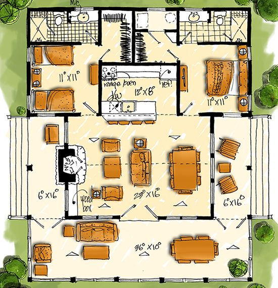 House Plan 1907 00034 Country Plan 1 031 Square Feet 2 Bedrooms 2 Bathrooms Cottage Style House Plans Tiny House Plans My House Plans