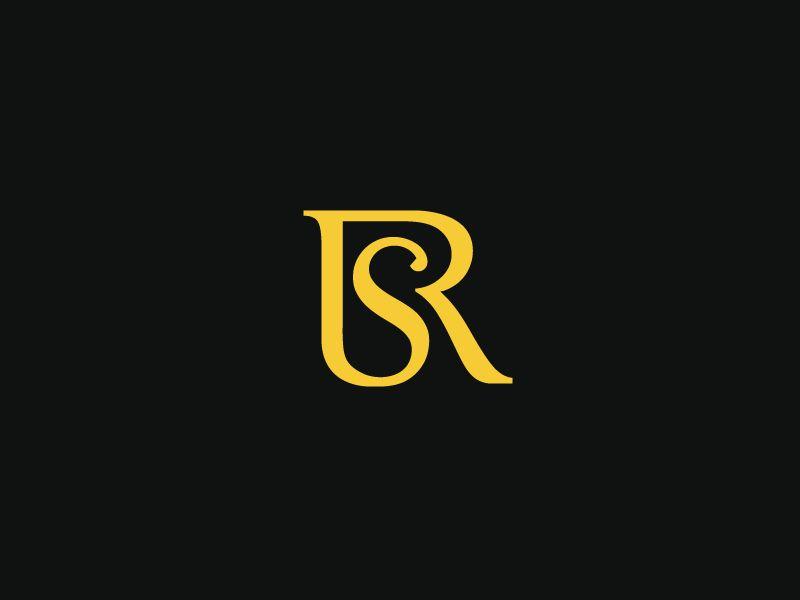Rs Monogram Letter Lettering Modern Sophisticated Rich Sleep Symbol Icon Monogram Typography Luxury Elegant Hospita Text Logo Design Letter Logo Design Sr Logo
