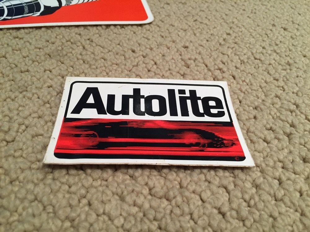 Set of 2 autolite spark plugs racing decal car stickers ebay