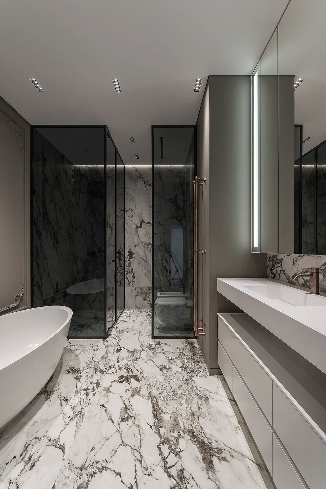 Her Apartment By Yodezeen Architects Homeadore In 2020 Bathroom Design Layout Bathroom Design Trends Latest Bathroom Designs