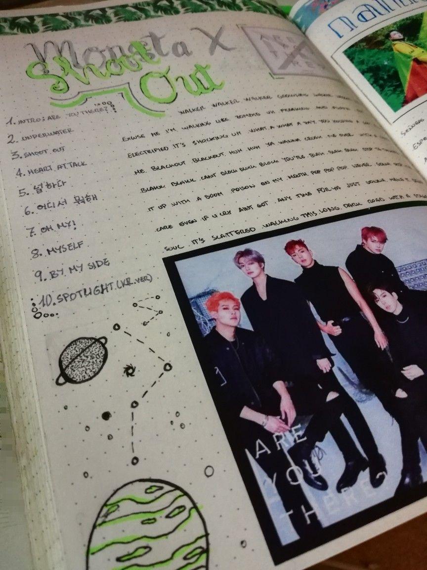 Kpop Journal Monsta X Bullet Journal Inspiration Journal Bullet Journal Art