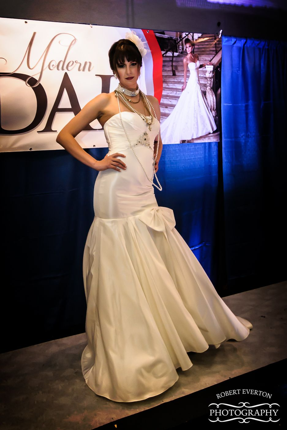 Bridal fashion show dress dress from simply modern bridal hair by