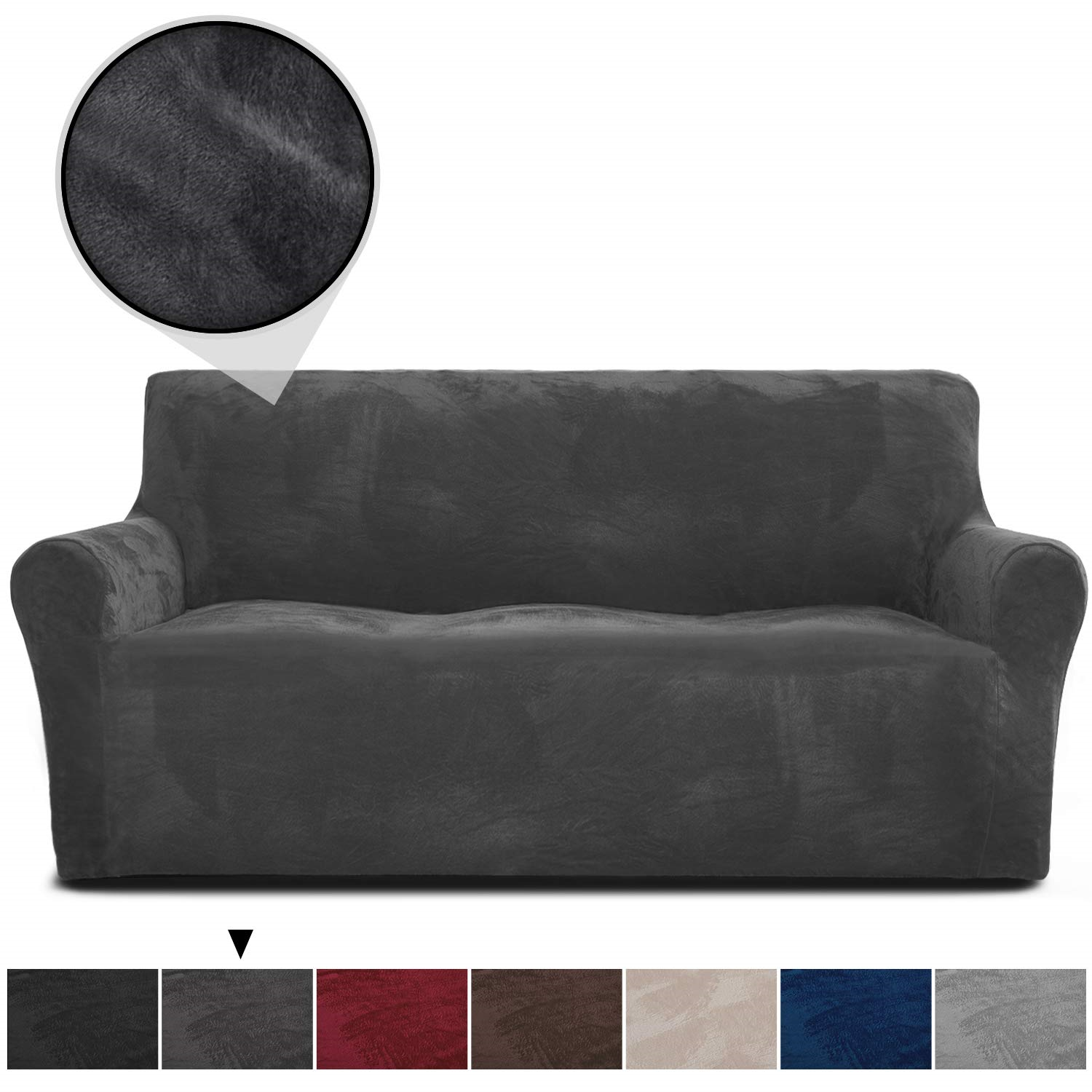 Rhf Velvet Sofa Slipcover Stretch Couch Covers For 3 Cushion Couch