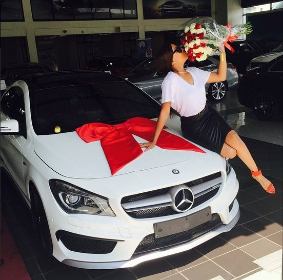 Bonang Matheba has gone and spoilt herself with a Mercedes- Benz CLA 45 AMG for Valentines Day.