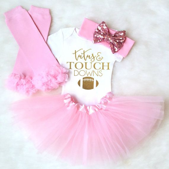 4a9b79945 ... Tutus and Touchdowns Super Bowl. Baby Girl Clothes Baby Girl Outfit  baby by KennedyClairesCloset