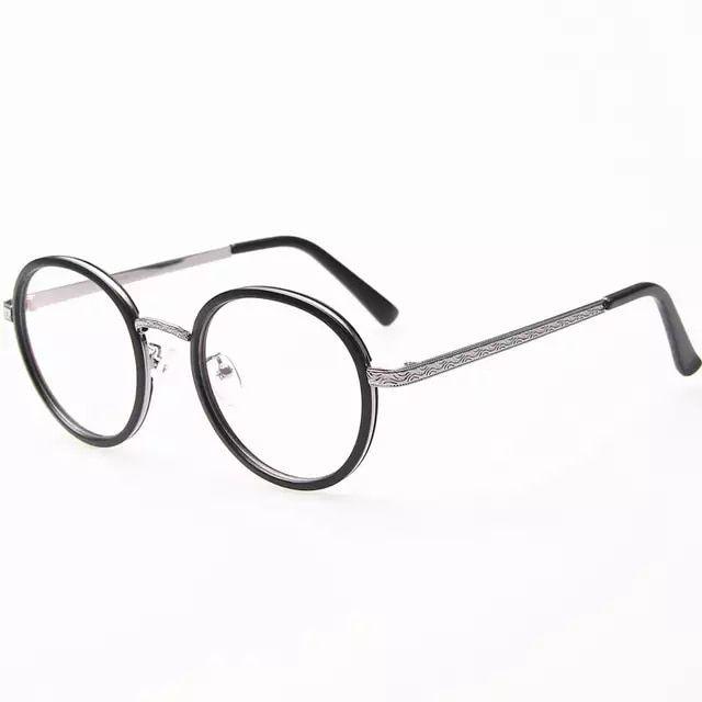 Retro round metal glasses frame fashion reading glasses women and men  armacao de oculos de grau 7036ef5ed7