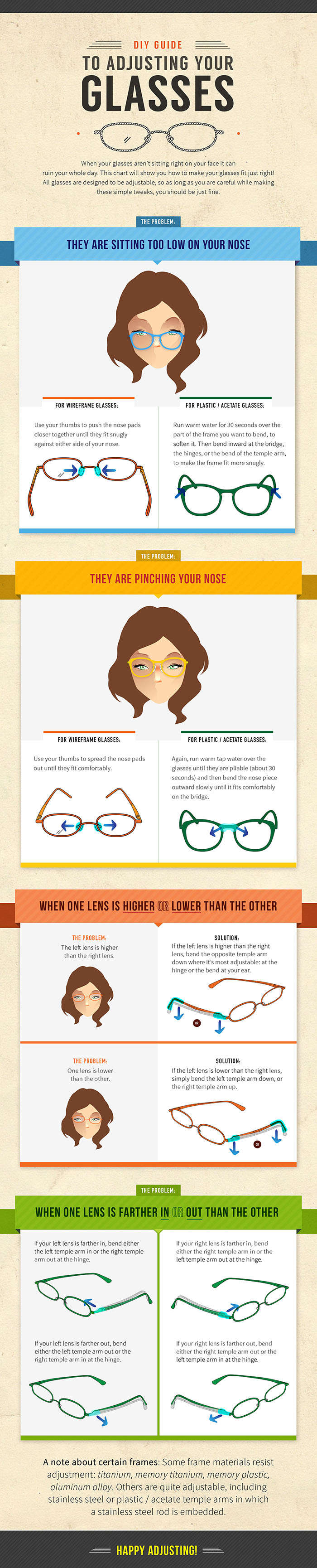 Tips to Adjust Your Glasses at Home | Things To Know 2 | Pinterest ...