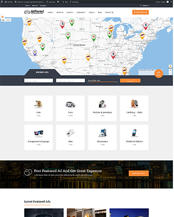 Classified #Ads #Posting #Wordpress theme with #Google #map Features ...