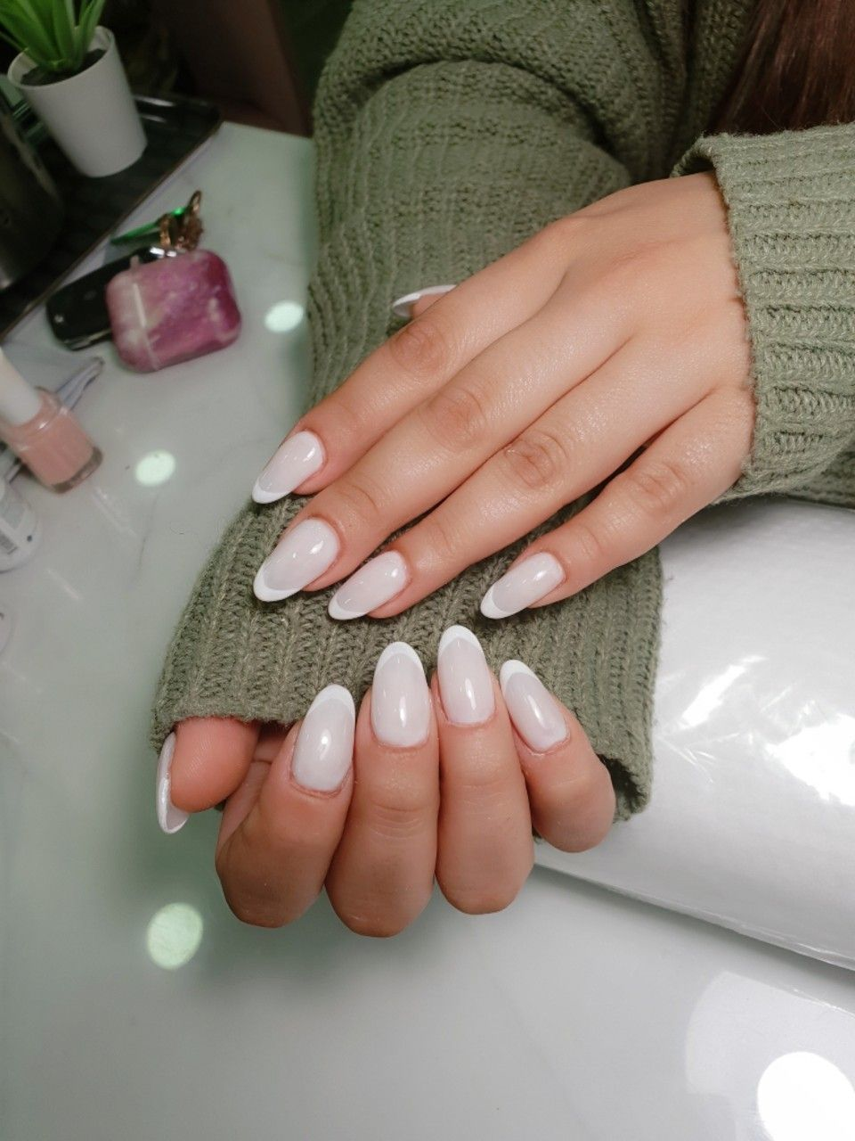 Marshmallow French On An Acrylic Nails Nails Acrylic Nails French Nails
