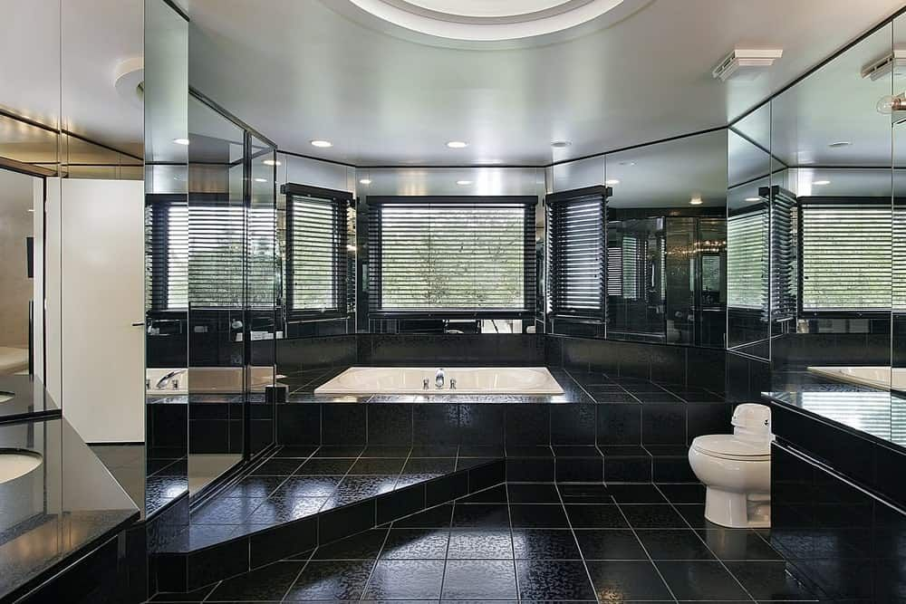60 Black Interior Design Ideas Black Room Designs Bathroom Design Luxury Modern Luxury Bathroom Modern Bathroom Design