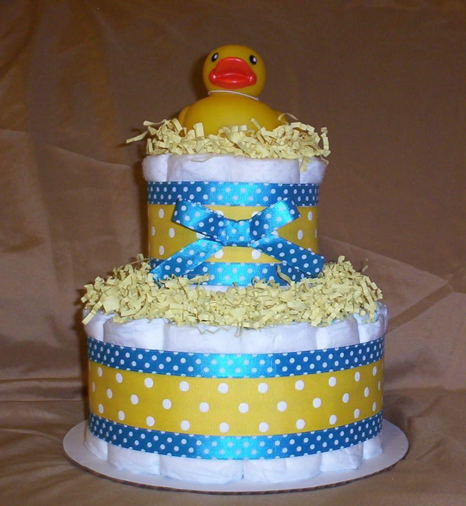 Boy Rubber Duck Diaper Cake Baby Shower Duck Baby Shower Diaper