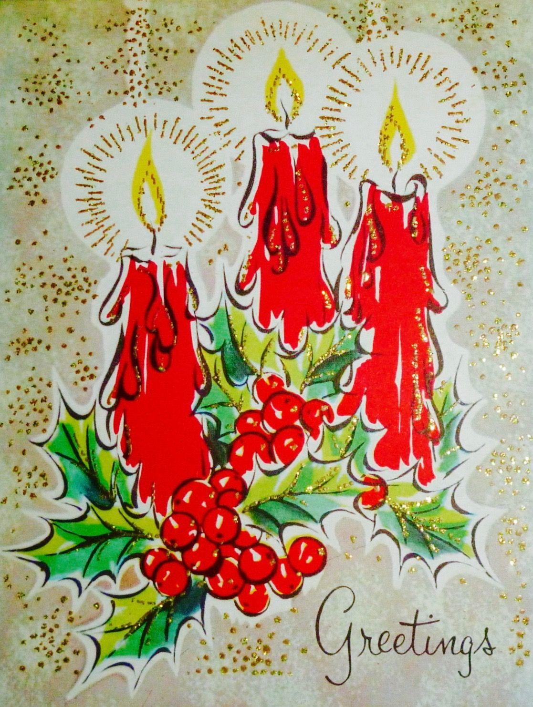 vintage christmas card retro christmas card christmas