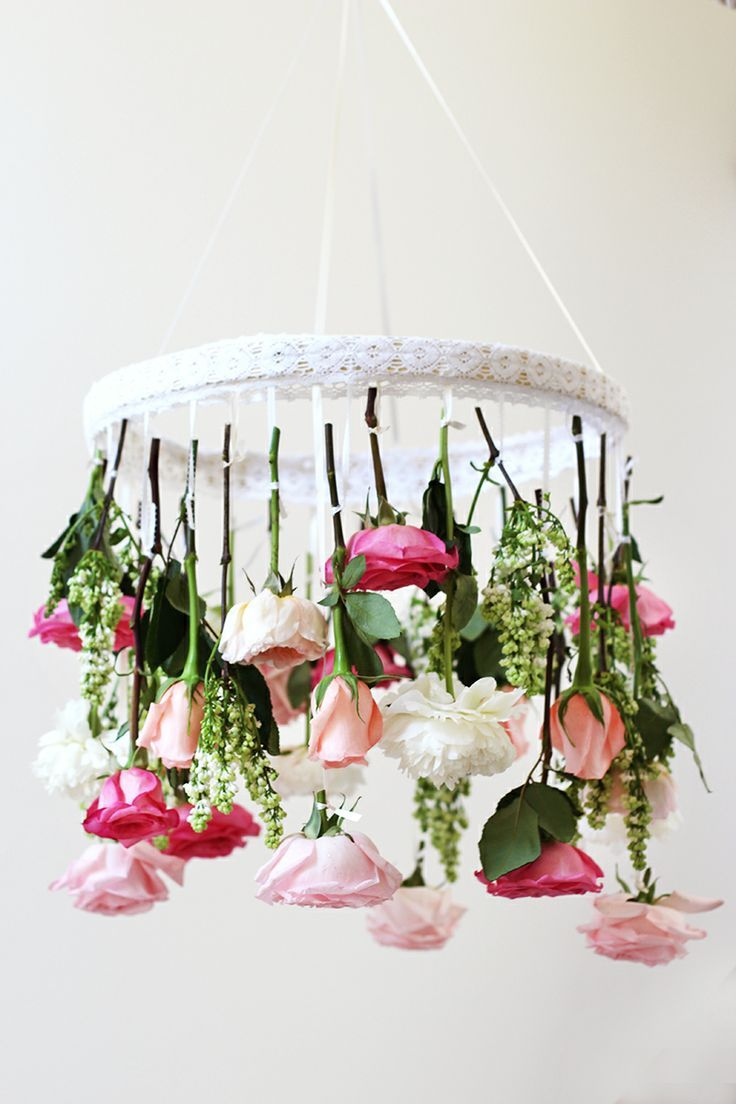 Diy flower chandelier flower chandelier diy flower and chandeliers diy flower chandelier arubaitofo Image collections
