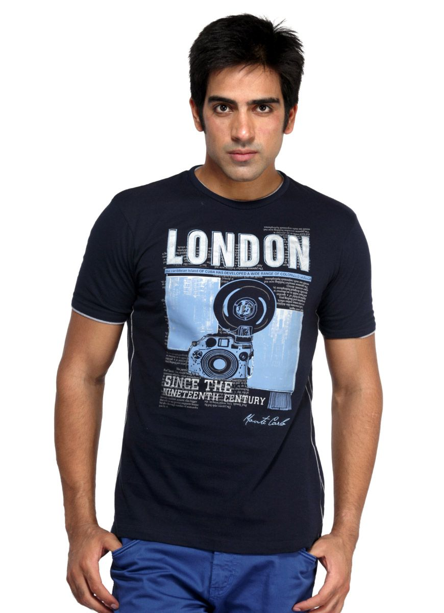 monte-carlo-blue-printed-men-t-shirt- | Mens T-Shirt | Pinterest ...
