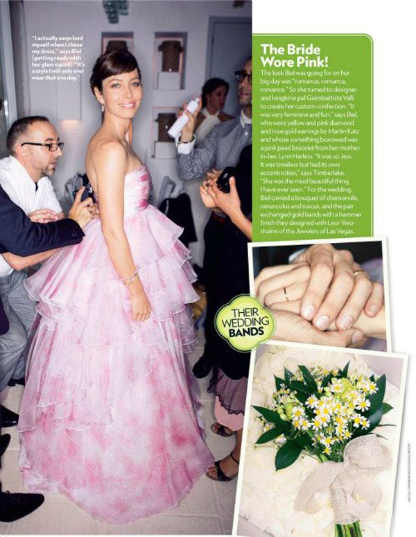 Jessica Biel Justin Timberlake S Wedding Flowers Trendy Looks You Can Diy Blooms By The Box Pink Wedding Gowns Celebrity Wedding Dresses Colored Wedding Gowns